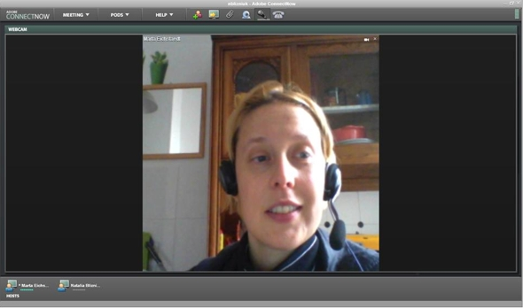 Adobe Connect Now okno wideo