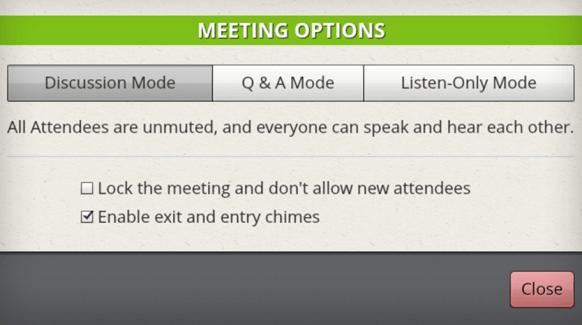 AnyMeeting ustawienie spotkania