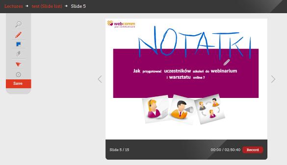 SlideBlender notatki na slajdach