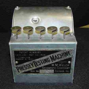 pressey-testing machine