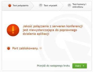 ClickWebinar zablokowany port PL