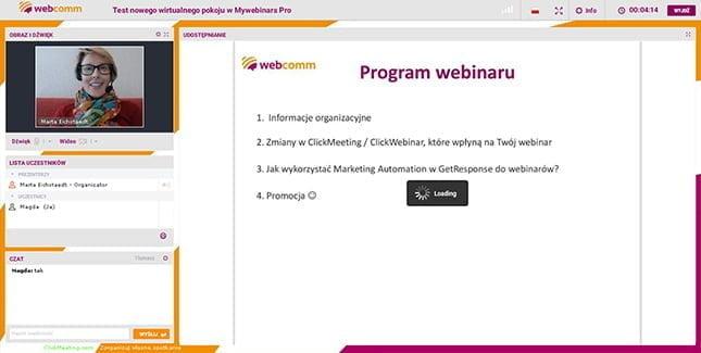 szablon wirtualnego pokoju w ClickMeeting