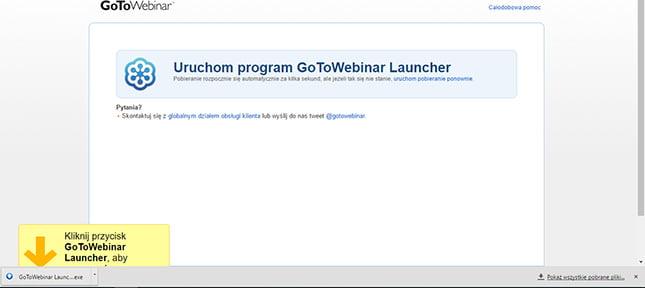 GoToWebinar instalowanie oprogramowania
